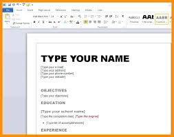 Word Resume Templates Ideal Microsoft Word Resume Template 2007