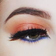 peach and blue eye makeup peach makeup tutorial you should recreate now