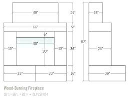 Fireplace Door Size Chart Fireplace Dimensions