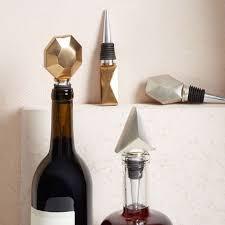 How To Make Decorative Wine Bottle Stoppers Geo Bottle Stopper Set west elm 95
