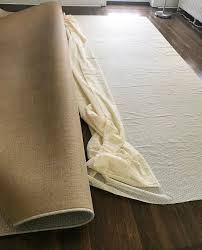 philadelphia interior designer glenna stone how to cut a rug pad step 2
