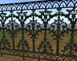 wrought iron fence victorian. Victorian Iron Railing Or Fence With Full Perm Texture - 5718 Wrought Iron Fence Victorian S