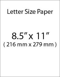 letter size paper 2