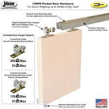 Johnson Hardware 100PD Pocket Door Hardware | Johnsonhardware.com ...
