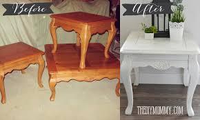diy metallic furniture. DIY Shabby Chic End Table With Chalk Paint And Dark Metallic Wax Diy Furniture