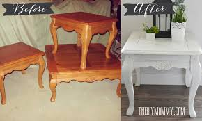 diy shabby chic end table with diy chalk paint and diy dark metallic wax