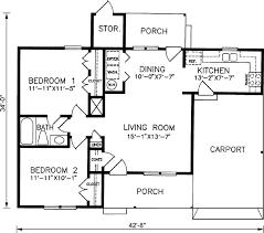 2 bedroom bath house plans with carport