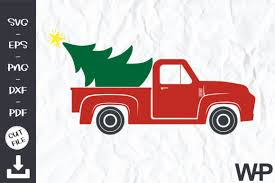 Find & download free graphic resources for christmas tree. Red Truck Christmas Tree Svg Graphic By Wanchana365 Creative Fabrica