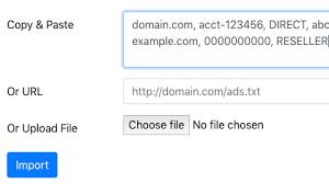 ads txt import
