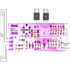 watt electronic ballast circuit electronic circuit projects 40 watt electronic ballast component layout