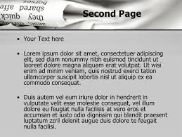 newspaper ppt template newspapers powerpoint template backgrounds 10329