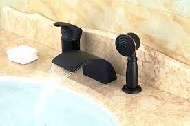 three handle tub faucet modern oil rubbed bronze waterfall spout bathroom tub faucet hand shower sprayer three handle