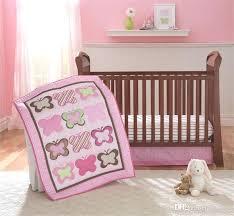 summer infant tutu cute crib bedding girls set princess pink erflies embroidered inc comforter padding