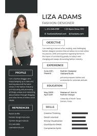 Unique Resume Formats Adorable Resume Template Fashion Resume Format Sample Resume Template