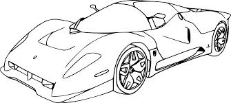 Coloriage Voiture De Course Ferrari Imprimer