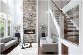 Stylish stone accent wall idea