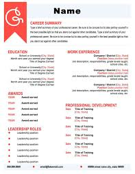 Coral and Black Resume Template. Make your resume pop with this beautiful  template. The