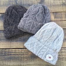 Bare Cable <b>Super warm</b> winter HAT hand knitted with 100 ...