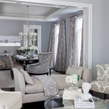 jennifer brouwer design contemporary blue and gray dining room with blue gray wall color and