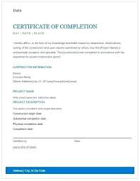 Certificate Of Completion Template Word Certificate Of Successful