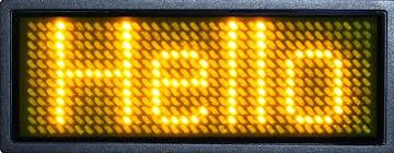 scrolling led display circuit moving message scrolling led display