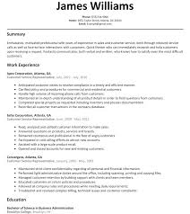 Customer Service Rep Resume Sample