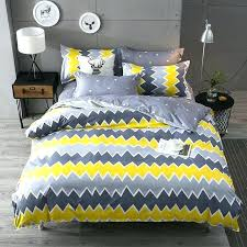 grey and yellow duvet cover yellow gray duvet set