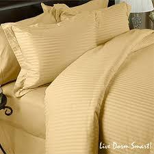 gold stripe twin xl duvet cover set 100 cotton 300 thread count