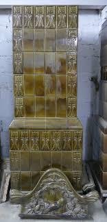 Historischer Kachelofen Jahrhundertwende Bau Antik
