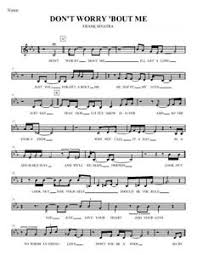 Details About Dont Worry Bout Me Frank Sinatra Vocal Eb Big Band Chart