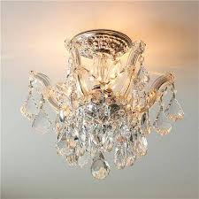 living appealing crystal flush mount chandelier 8 small fascinating ideas on semi tendr me full image
