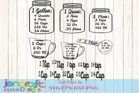 Kitchen Svg Conversion Chart Svg Kitchen Measurements