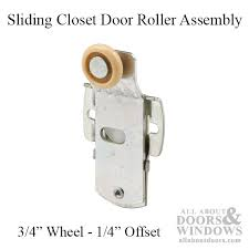 sliding closet door roller assembly with 3 4 wheel 1 4 offset sterling hardware sliding rollers