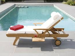 lounge chair for pool with comfy look to relax block decor