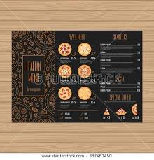 Pizza Menu Design Fold Leaflet Layout Template Restaurant Brochure ...