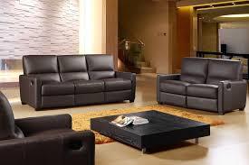 641 Full Italian Leather 3 Piece Reclining Sofa Set