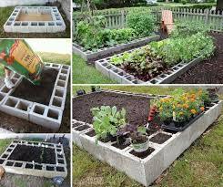 diy cinder block raised garden bed making cinder block raised garden bed