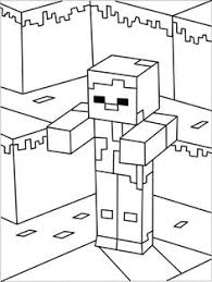 Minecraft Herobrine Kleurplaat