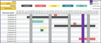 Employee Attendance Calendar Template Xtech Me