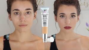 It Cosmetics Cc Cream Light Review First Impression Review It Cosmetics Cc Cream