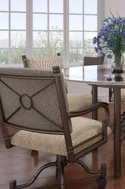 swivel dining chairs with casters. Callee\u0027s Burnet Tilt Swivel Dining Chair With Arms And Rolling Casters Chairs E