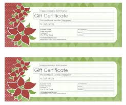 it free printable blank gift certificates mage templates attractive holiday certificate template for with green and red fl motif decorations
