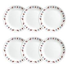 corelle livingware lunch plates 6 pack nordic blue luncheon plates xnemuyykb