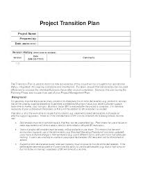 Transition Plan Template Word System Transition Plan Template Chanceinc Co