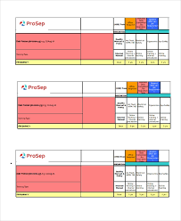 Employee Training Matrix Template Excel Excel Matrix Template 6 Free Excel Documents Download