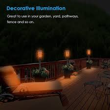 decorative solar lighting. LED Bulb Outdoor Waterproof Solar Lights Flickering Flames Lamp Landscape Decor 9 Decorative Lighting