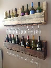 pallet wine glass rack.  Pallet DIY Pallet Wine U0026 Glass Holder And Rack K