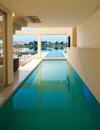 Creativity Indoor Infinity Pool Minimalist Interior Swimming Design Communicating With The In Modern Ideas