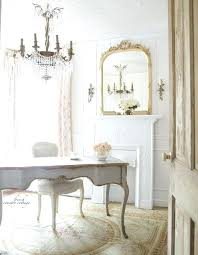 neutral office decor. Country Office Decor A Neutral Colored With Blush Floral Curtains And Off White Furniture F