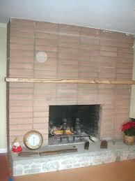 resurface a brick fireplace brick fireplace before reface brick fireplace with stone veneer